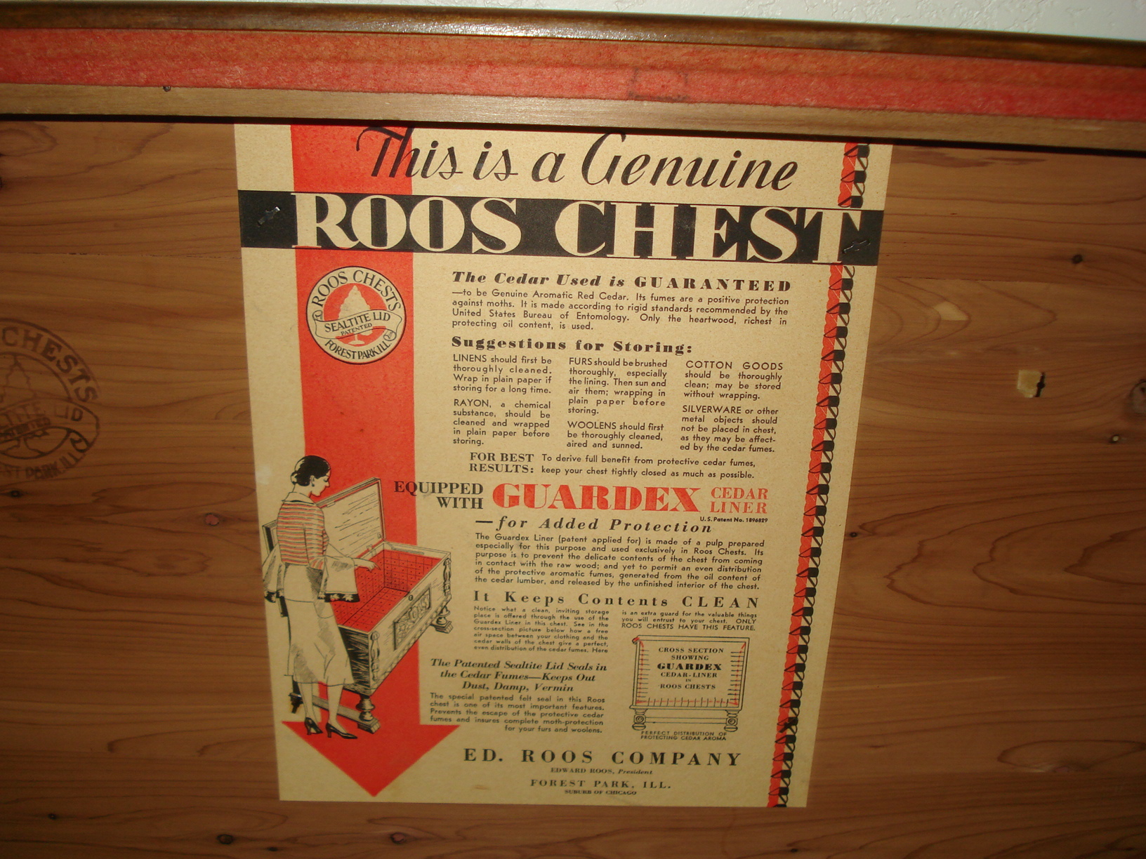 1938 Roos Hope Chest For Sale Classifieds