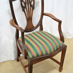 Antique Dining Chairs Value Rocking Chair Recliner Six Mahogany Shield Back For Sale Antiques