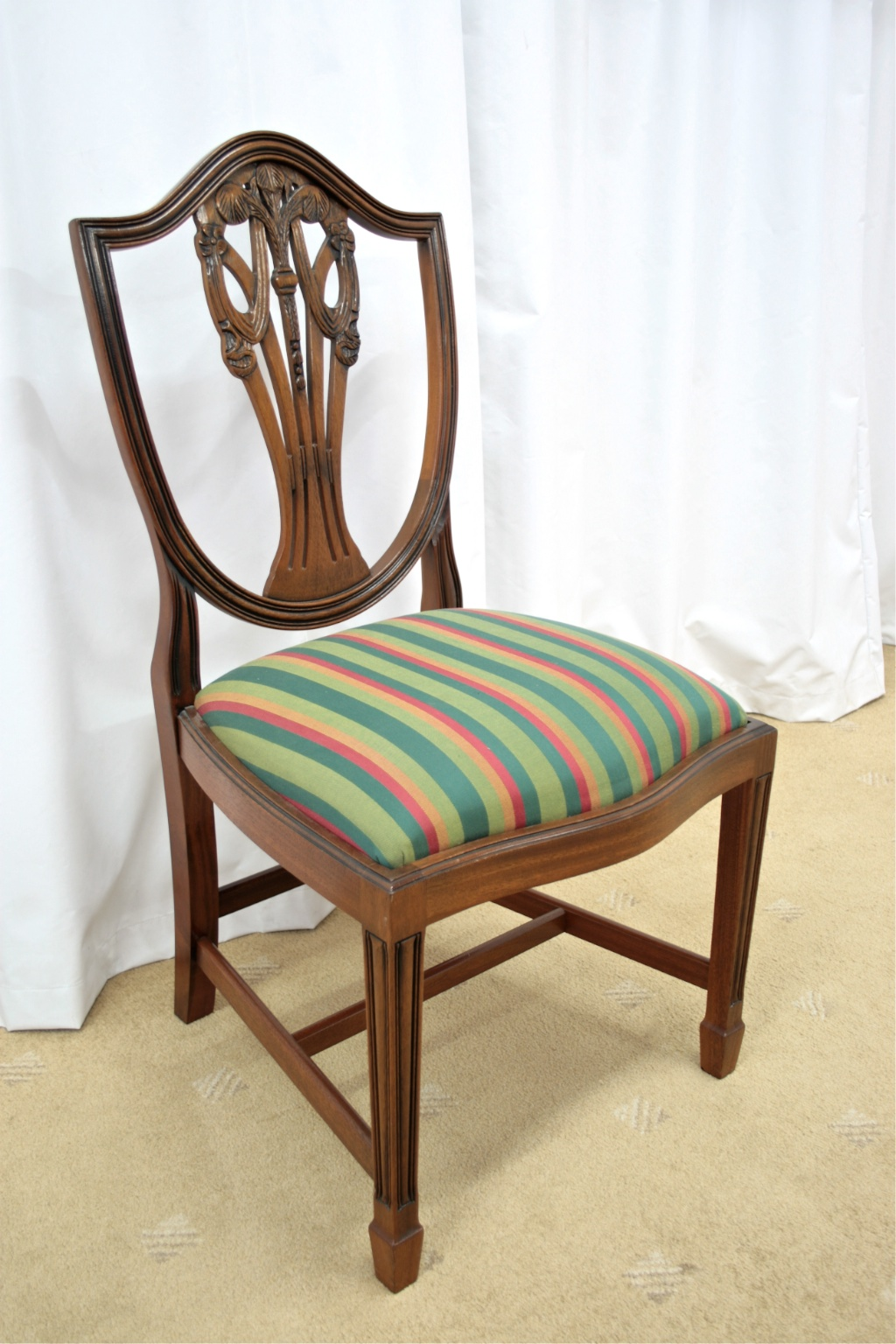antique dining chairs value most comfortable desk chair six mahogany shield back for sale antiques