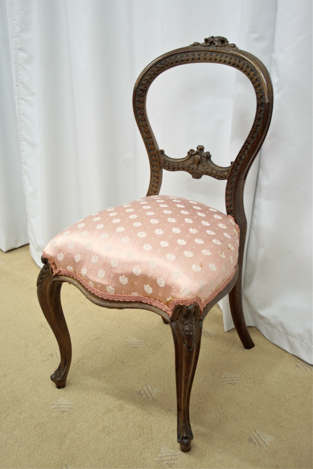 antique dining chairs value brumby chair company six victorian walnut balloon back for sale