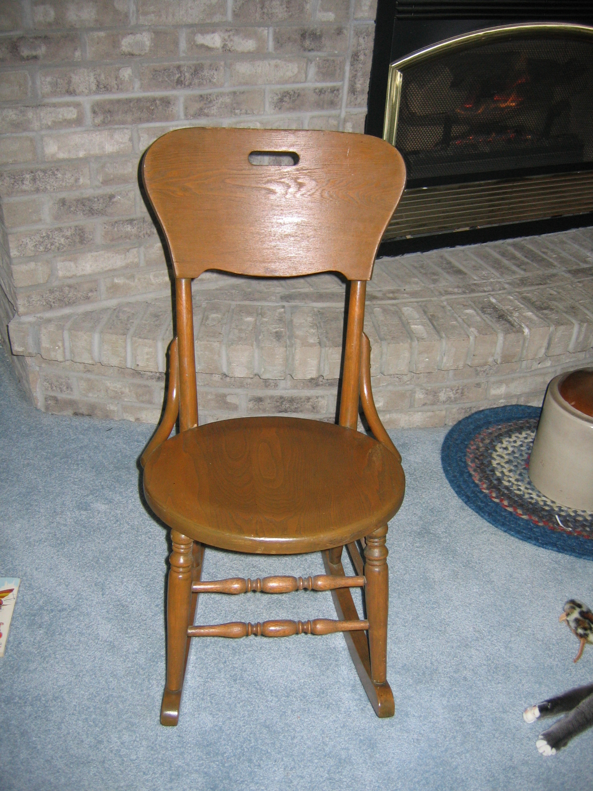 antique rocking chairs for sale steel chair leg glides vintage ladies knitting wood item 811