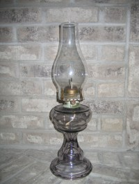 Antique Vintage Queen Anne No. 2 Light Purple Translucent