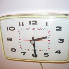 Kitchen Clocks For Sale Wooden Spoons Vintage General Electric Wall Clock Item 166