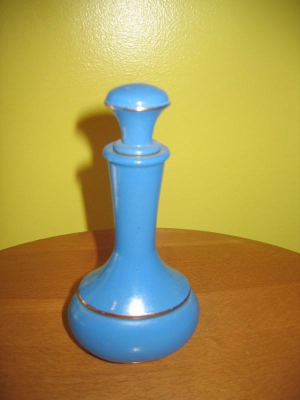 Vintage Avon Blue & Gold Trim Perfume Dauber Glass Bottle
