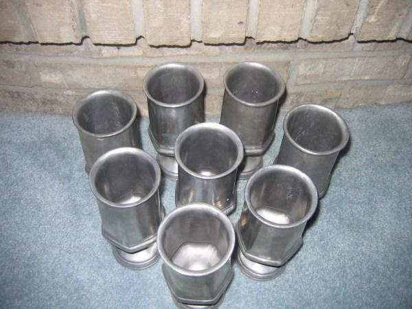 Wilton Armetale Serveware 1975 Wine Goblets Set 8