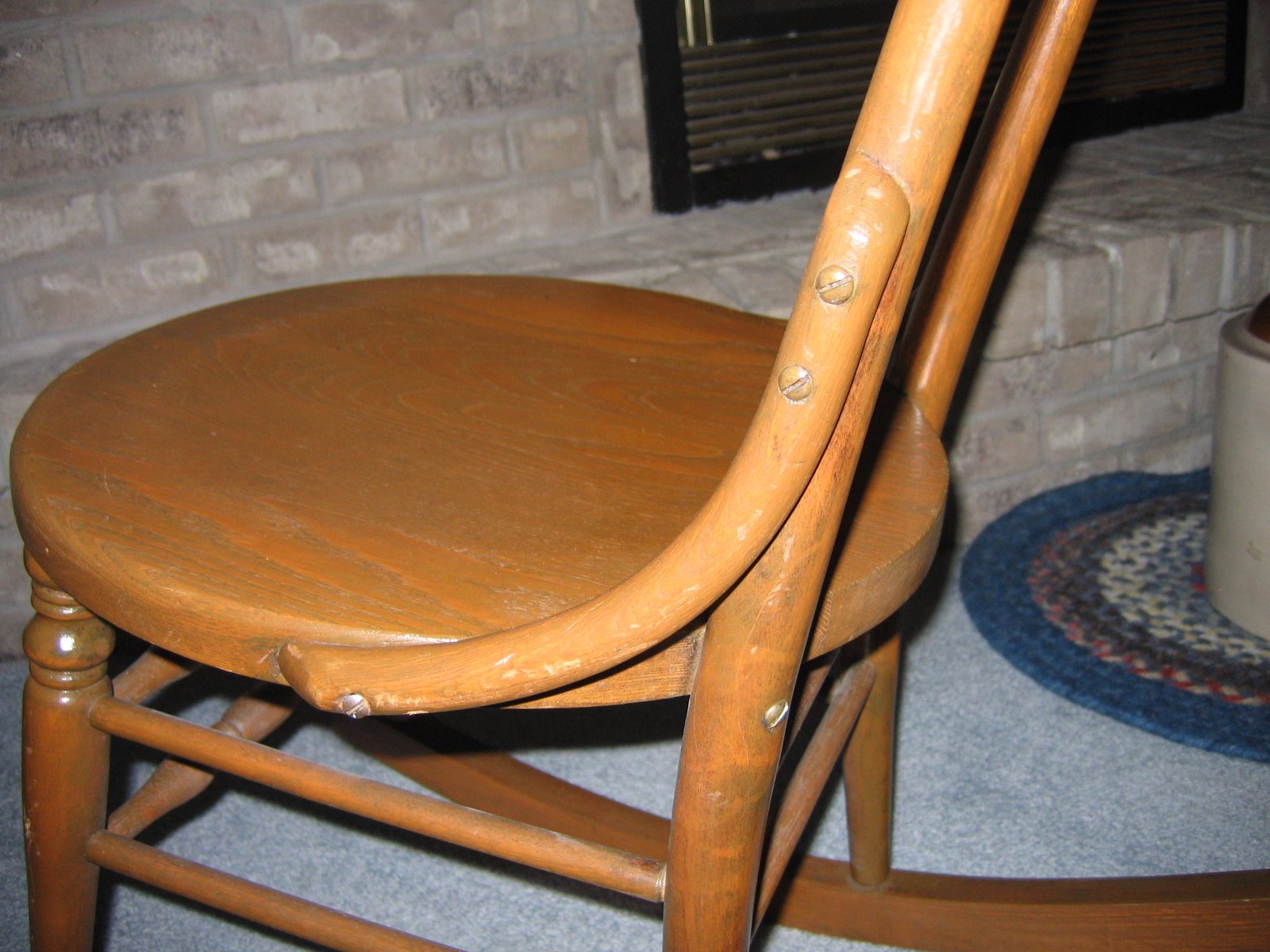 antique rocking chairs for sale office chair attached table vintage ladies knitting wood item 811