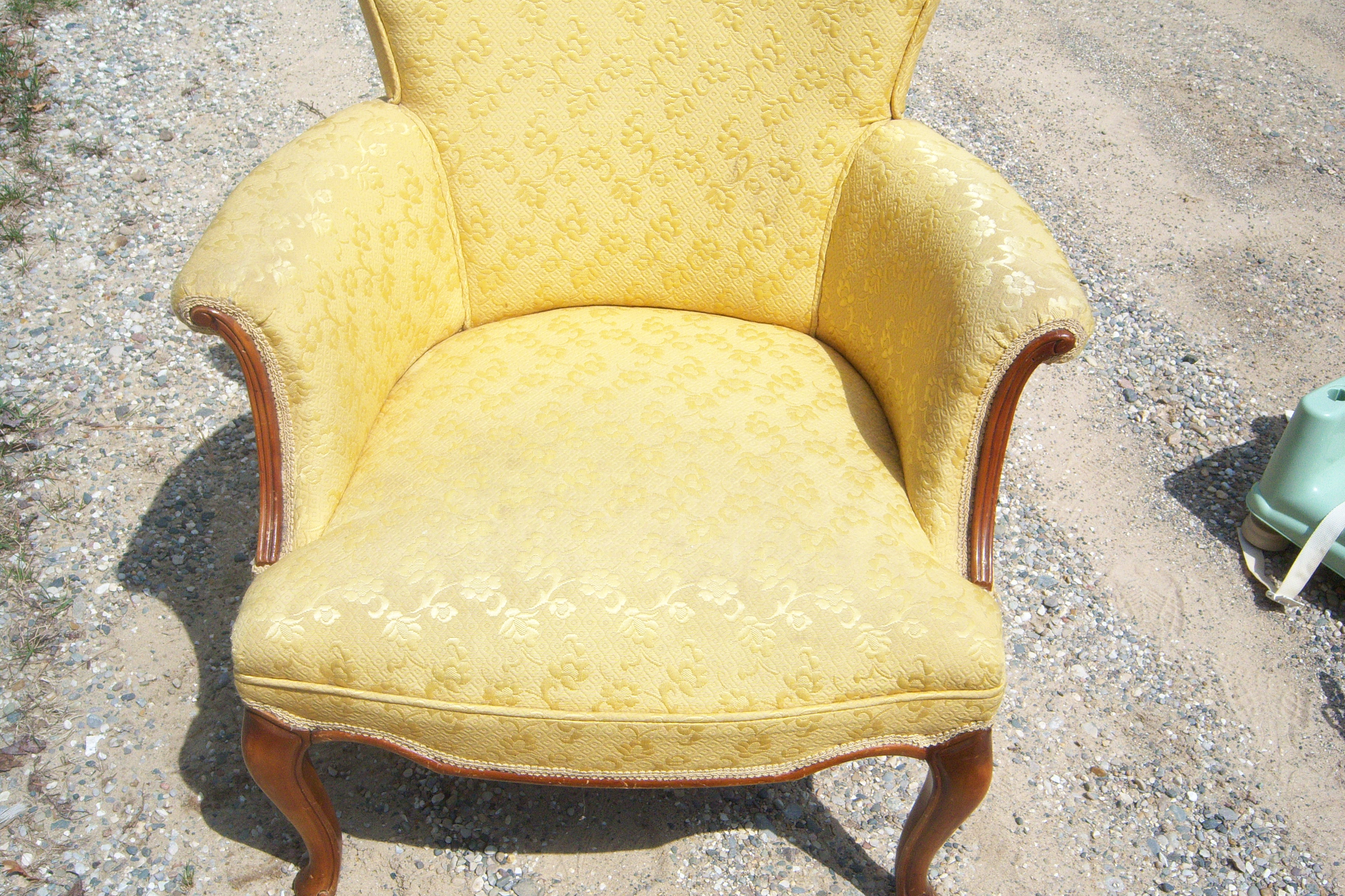 yellow chairs for sale grey accent chair with ottoman 2 antique antiques classifieds