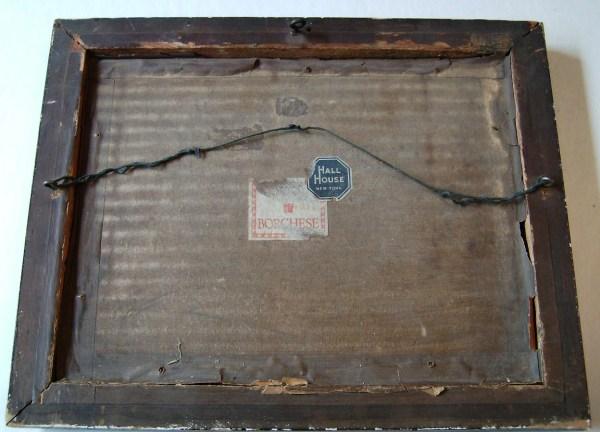 Rare Antique1920' Borghese Wood Framed Print Boston