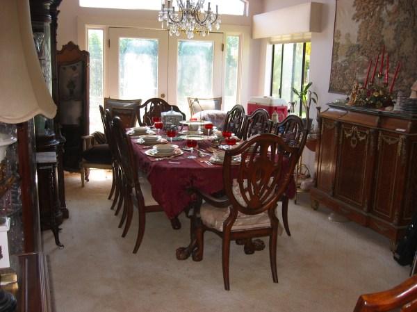 Antique Mahogany Dining Room Set