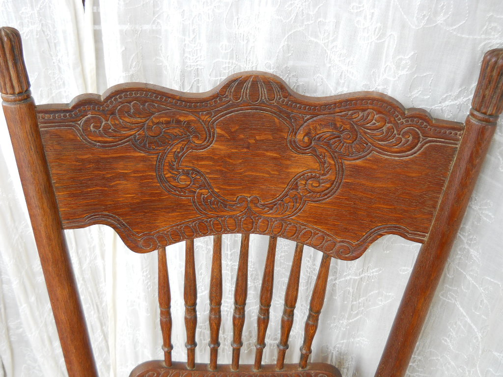 solid oak pressed back chairs graco elefanta high chair wood hand carved cane seat for sale antiques