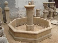 Hand carved antique garden fountain For Sale