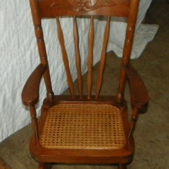 Rocking Chair Cane Vladimir Kagan Nautilus Mahogany Carved Child 39s Rocker With