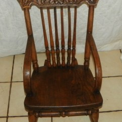 Antique Rocking Chairs For Sale Dining Chair With Arms Elm Carved Child 39s Rocker R170