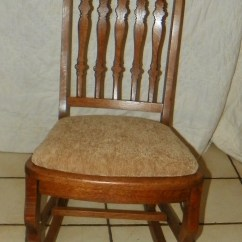 Antique Sewing Chair Easy Christmas Covers Quartersawn Oak Rocker Rocking R174 For