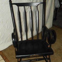 Maple Rocking Chair Best For Long Pc Gaming Sessions Black Handpainted Rocker R168