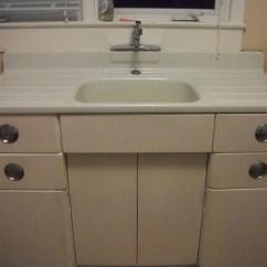 Vintage Kitchen Cabinets For Sale Makeovers Metal Cabinet And Porcelain Sink