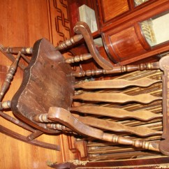 Antique Folding Rocking Chair Value Skyline Furniture Slipper For Sale Antiques Classifieds