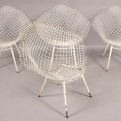 Mid Century Modern Wire Chair Best Bean Bag Chairs For Sensory Integration Set Of Four 4 Bertoia Diamond Frame Sale Today We Offer You This Beautiful Style With Open Grid Seats And