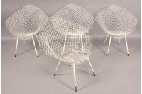 SET OF FOUR (4) BERTOIA DIAMOND WIRE FRAME CHAIRS For Sale ...