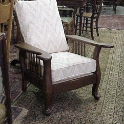 Morris Chairs For Sale Folding Chair Slipcovers Oak Newly Upholstered Pads Unusual Make Nice Original Varnish With In Tan Flame Stitch Which Goes Very Nicely Status Reference 932 22