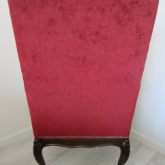 Wood High Chair For Sale Comfortable Chairs Bedrooms Colonial Style Red Textile Dark Back Arm
