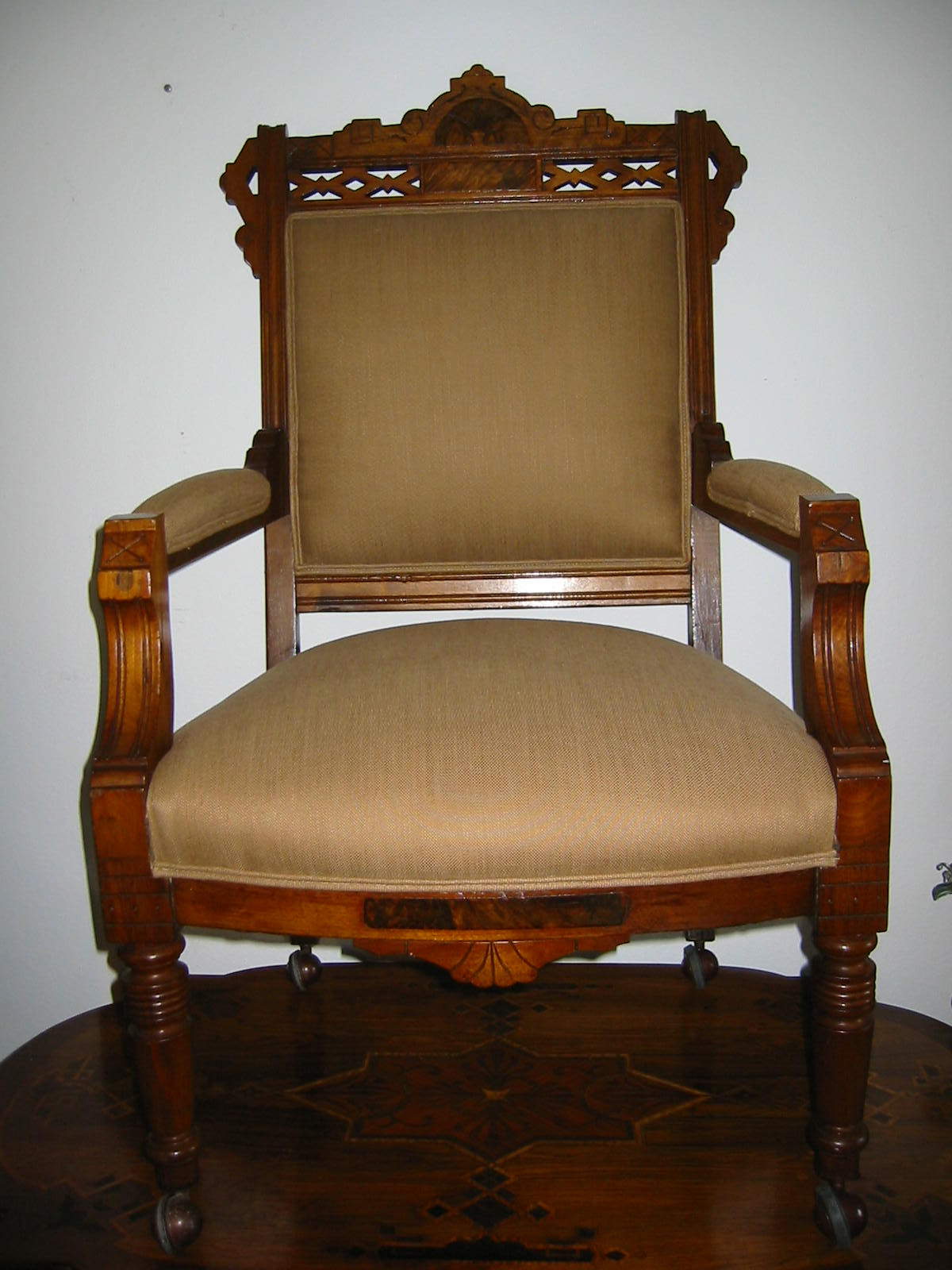 antique wooden chairs pictures stand up desk empire crest wood arm chair for sale antiques