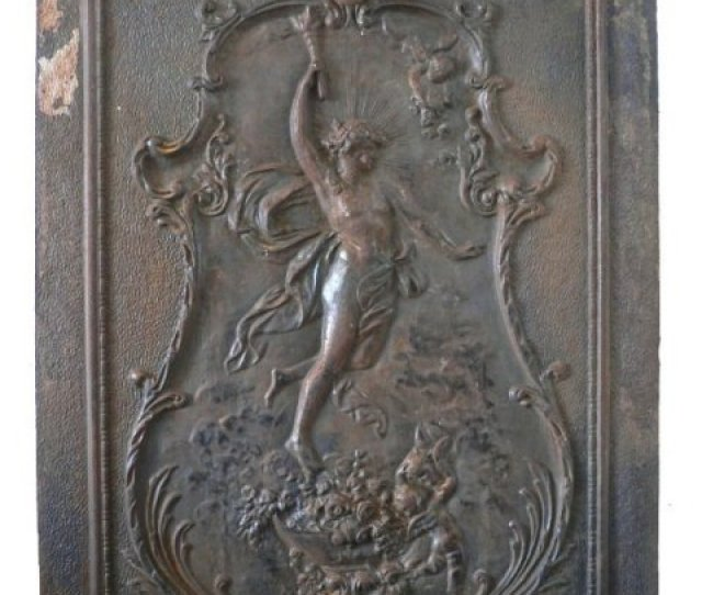 Remarkable Antique Neoclassical Figural Cast Iron Summer Cover C  S For Sale