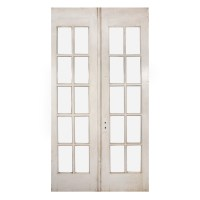 Pair of Salvaged 48 Divided Light French Doors with ...