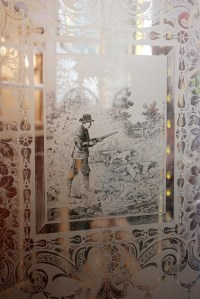 Antique Etched Glass Doors