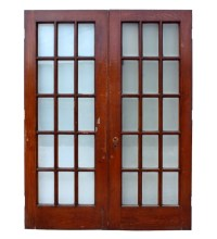 Fabulous Pair of Salvaged 30 French Doors, Oak with ...