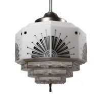 Splendid Antique Art Deco Skyscraper Pendant Lights ...