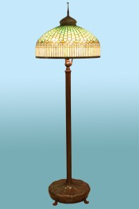 Tiffany, Curtain Border Floor Lamp For Sale | Antiques.com ...