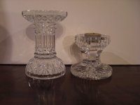 Waterford Pedestal Glass Candle Holders For Sale