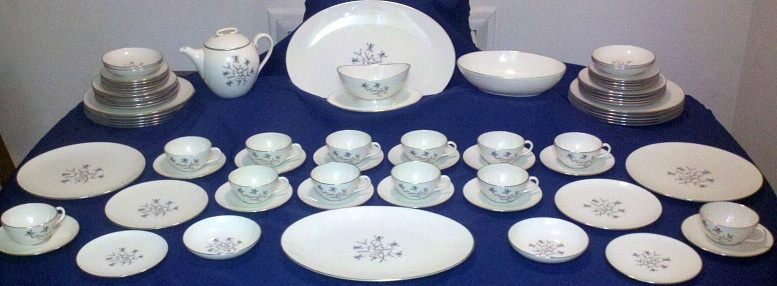 71 Piece Lenox Princess China Set Including 12 Full Place Settings and Rare Items For Sale