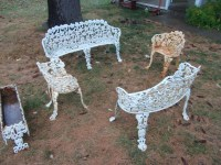 Cast iron patio furniture For Sale | Antiques.com ...