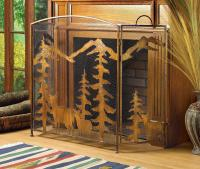 Rustic Forest Fireplace Screen For Sale   Antiques.com ...