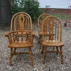Solid Oak Pressed Back Chairs Ikea Child Chair Bow For Sale Antiques
