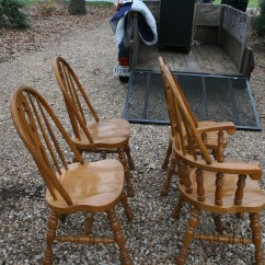 Solid Oak Pressed Back Chairs Swivel Chair Vs Glider Bow For Sale Antiques