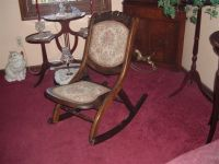 victorian ladies fold up rocking chair For Sale | Antiques ...