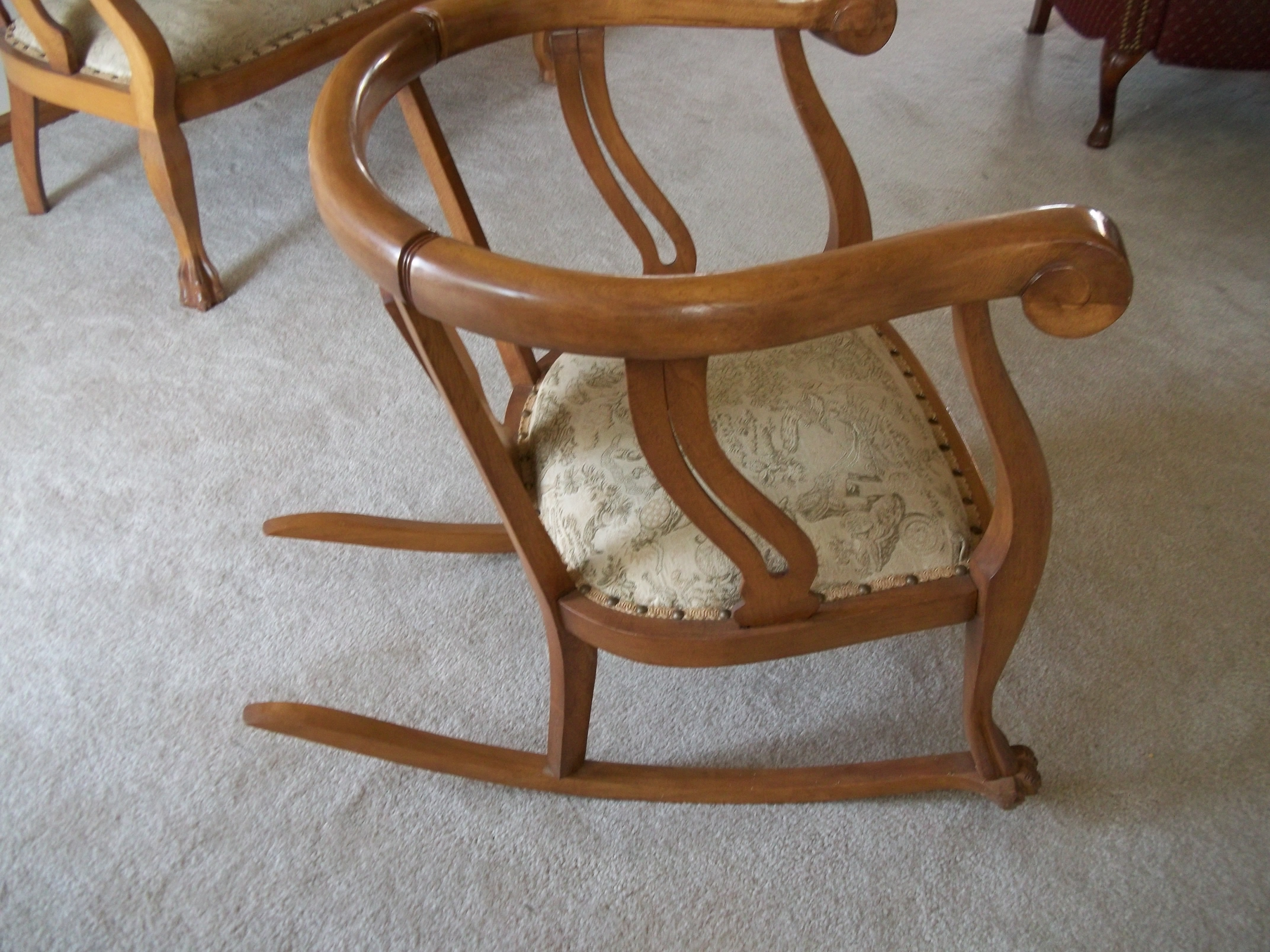 1920s rocking chair marlin fishing matching oak settee and era 1920 s for sale antiques this beautiful duo is just waiting to showcase any area you choose the pair are in excellent condition sturdy ll get lots of compliments on