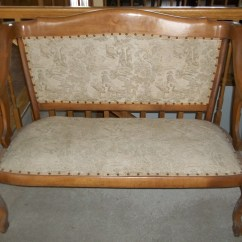 1920s Rocking Chair Nursing Matching Oak Settee And Era 1920 39s For Sale