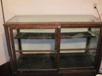 Antique oak and glass display case For Sale | Antiques.com ...