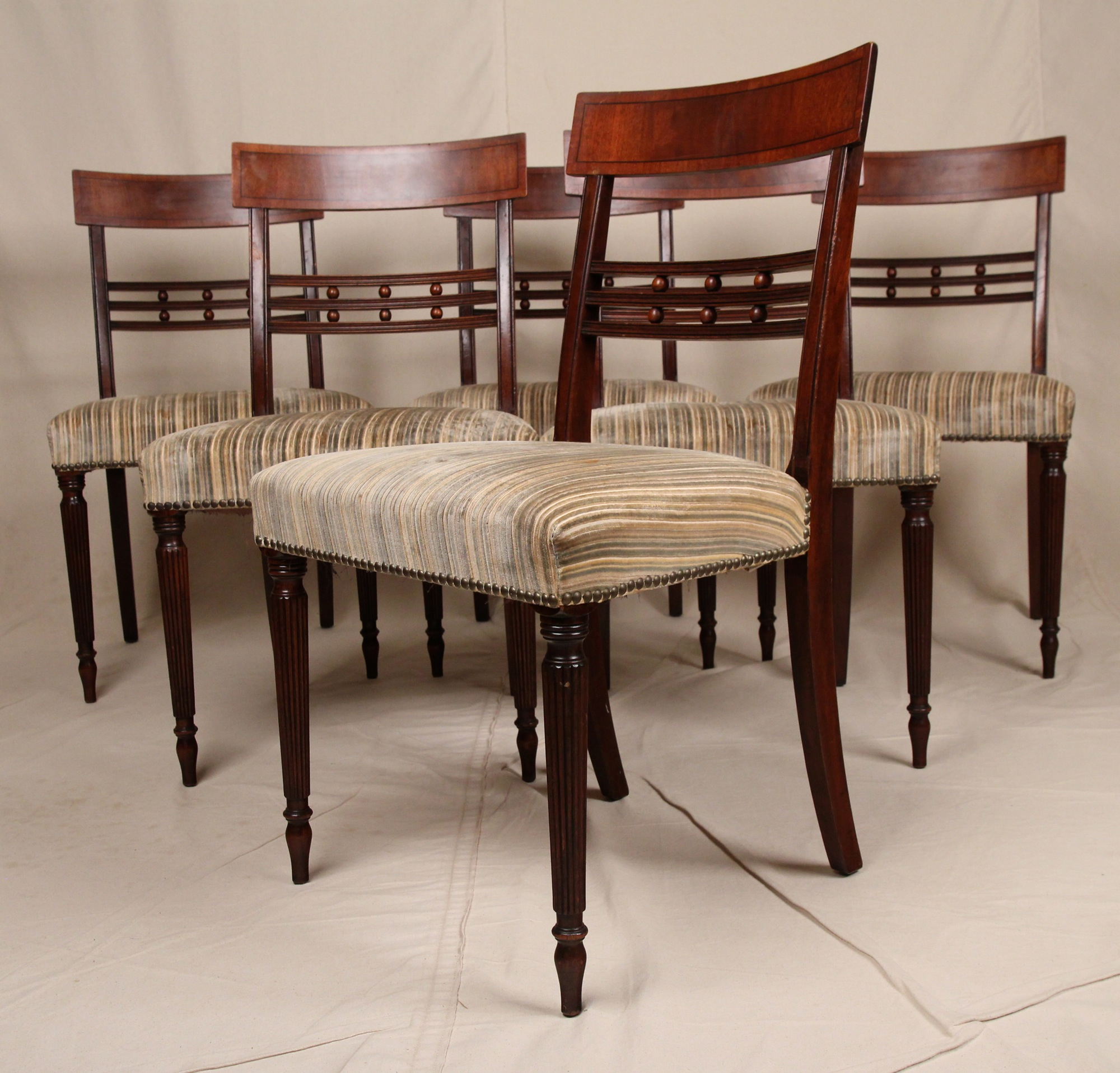 federal dining chairs swing chair afterpay set six american sheraton antique style mahogany