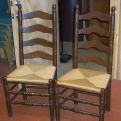 Antique Ladder Back Chairs Value Swivel Bar Ladderback Set Of 2 For Sale Antiques