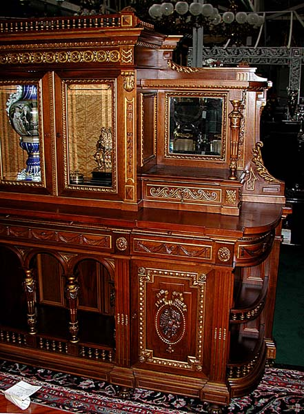 Monumental American Victorian Sideboard by Herter Brothers