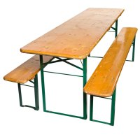 German Beer Hall Folding Table Bench Set 1900s For Sale ...