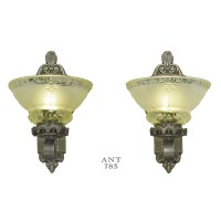 Antique Wall Sconces Edwardian Lighting Fixtures Cup Shade ...