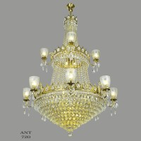 Large Crystal Chandelier Elegant Grand Ballroom Ceiling ...