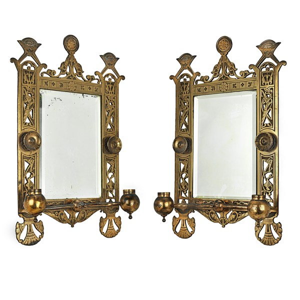 Eastlake Victorian Pair Of Candle Sconces Brackets