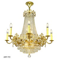 Vintage Crystal Chandelier 16 Light Rewired Ceiling ...